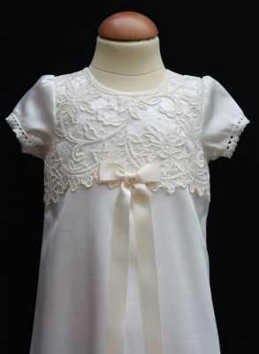 Christening gown Grace-Cecilia in off white luxurious lace