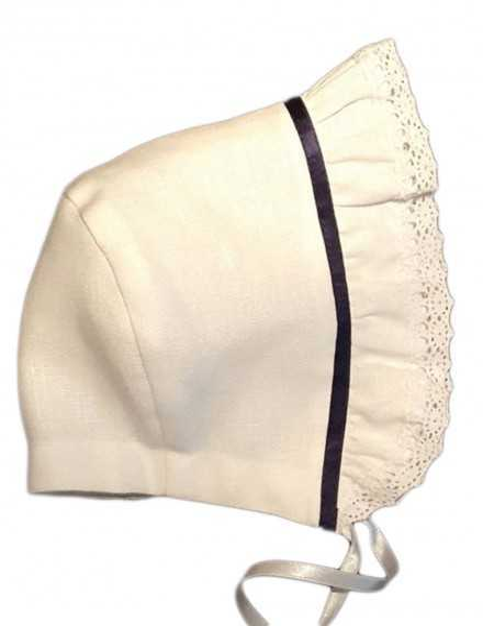 Christening bonnet Grace-Tradition Navy