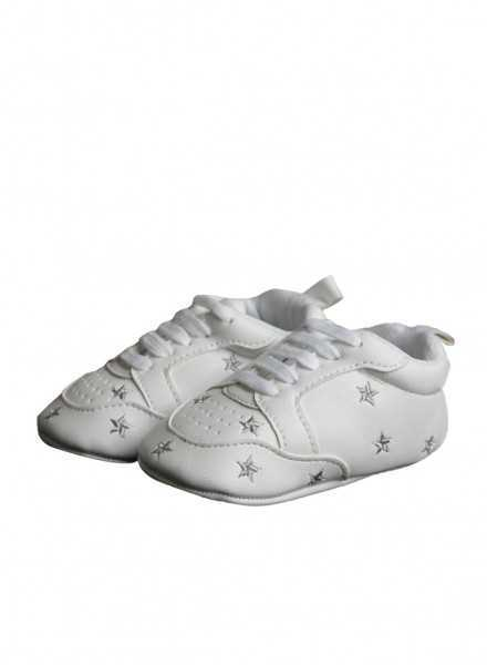 Baby shoes with beautiful stars in silver