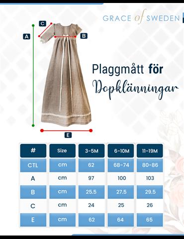 off white brokad kostym för pojkdop