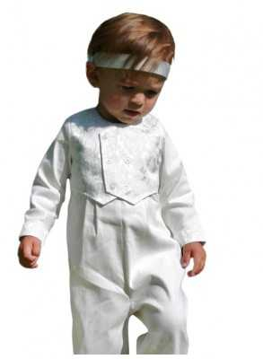 baptism costume with vest for boy