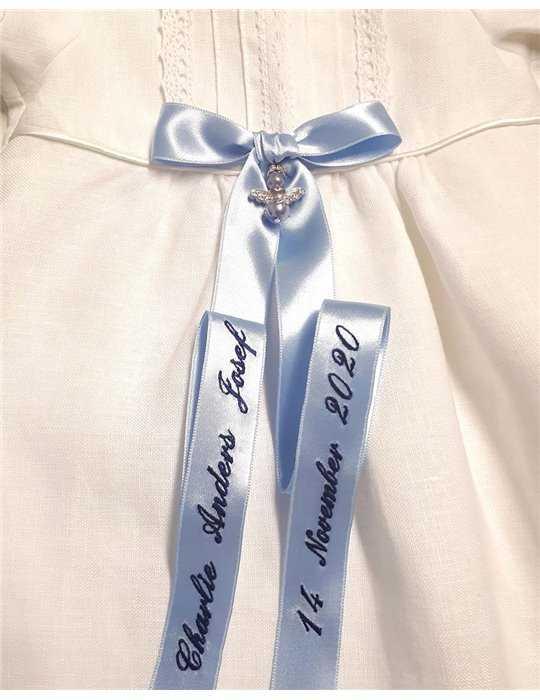 Christening bonnet Grace-Cecilia with lace
