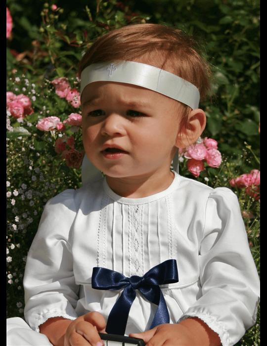 unisex Dophätta i vit bomull för dop