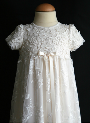 Christening gown Grace-Sara in off white lace