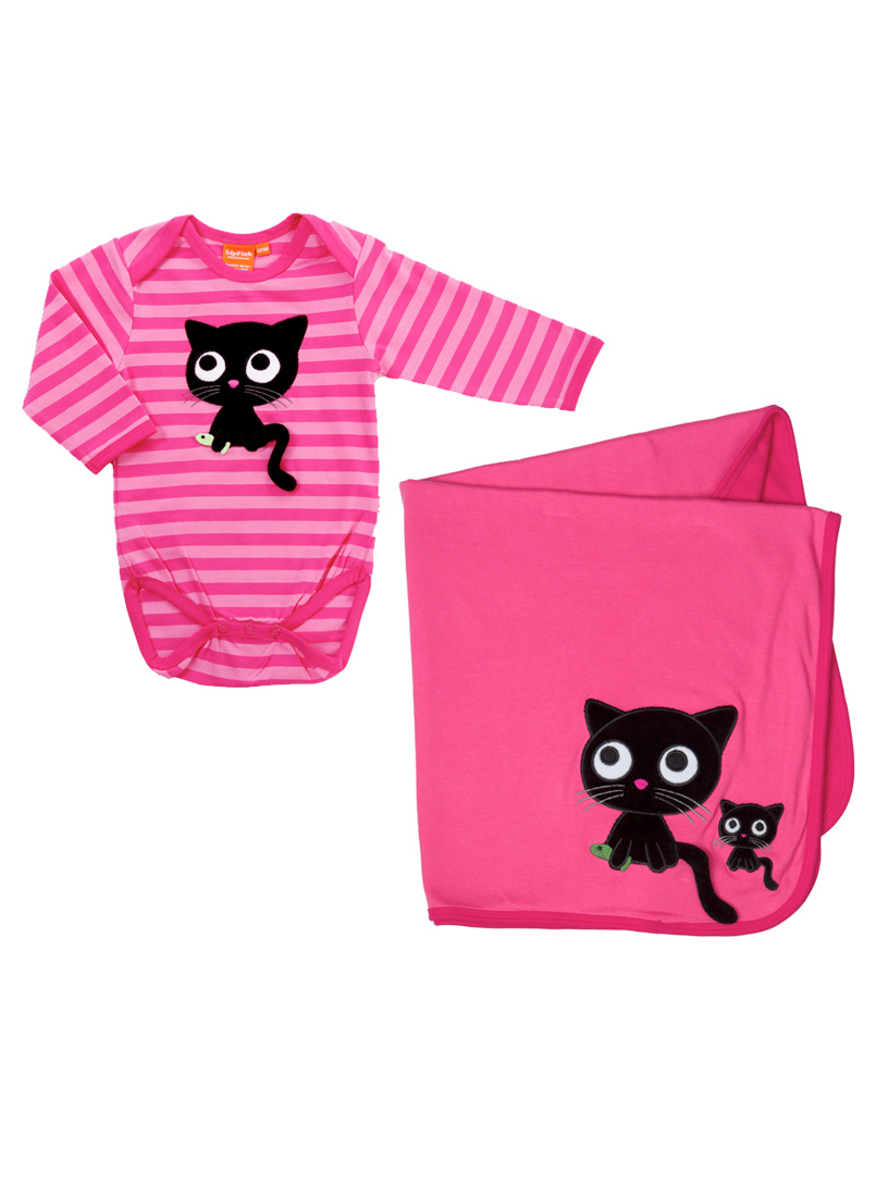 body and blanket for baby with cat