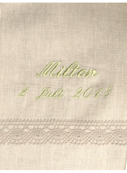 Grace-Tradition christening gown in natural colored linen fabric for boys