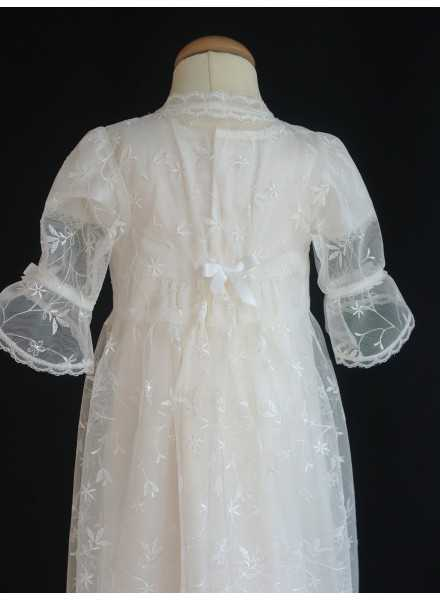 Christening robe Grace-over dress in lovely lace