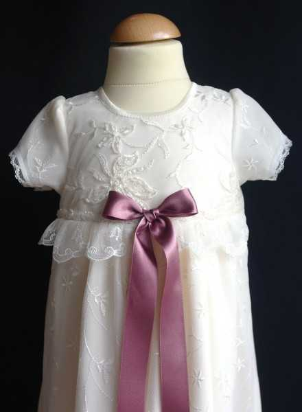 Christening gown Grace-Sara with lovely bow