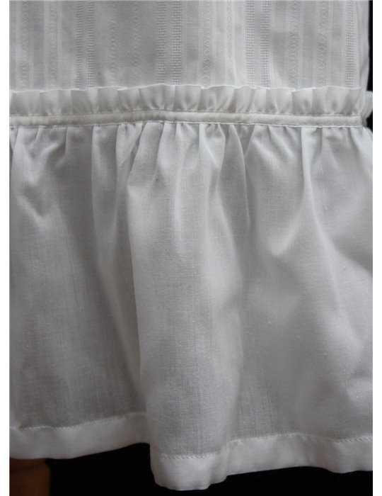 Christening gown Grace-Royal flower in silk for girls