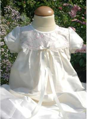 Christening gown Grace-Royal flower in silk