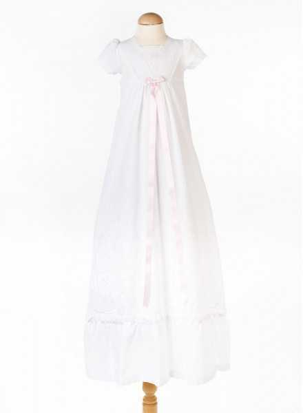 long christening gown in cotton Grace-Memories for girls
