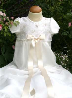 Christening gown with pearl...
