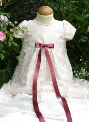 Christening gown in pink...