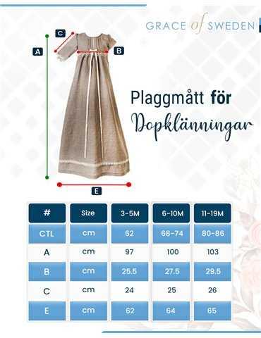 vacker Dopklänning för flickor och pojkar