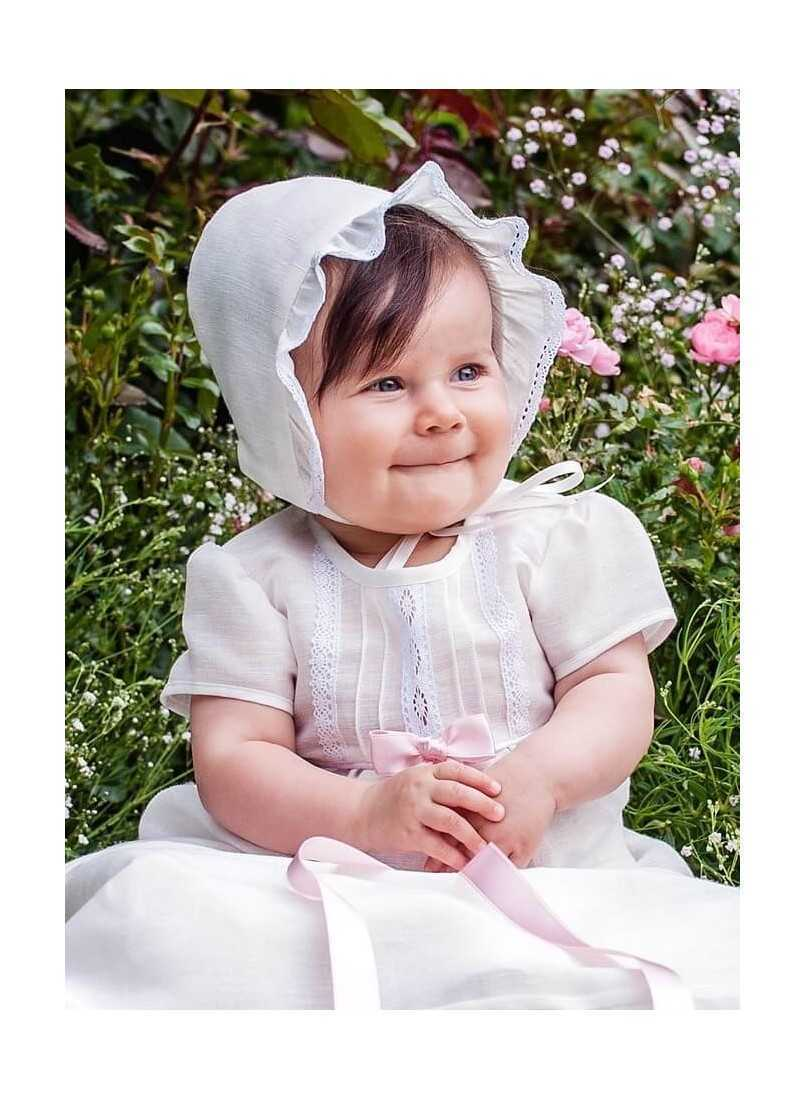linen christening gown for girls and boys