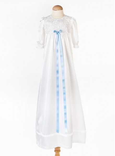 Grace-Vickan beautiful long white lace baptism gown