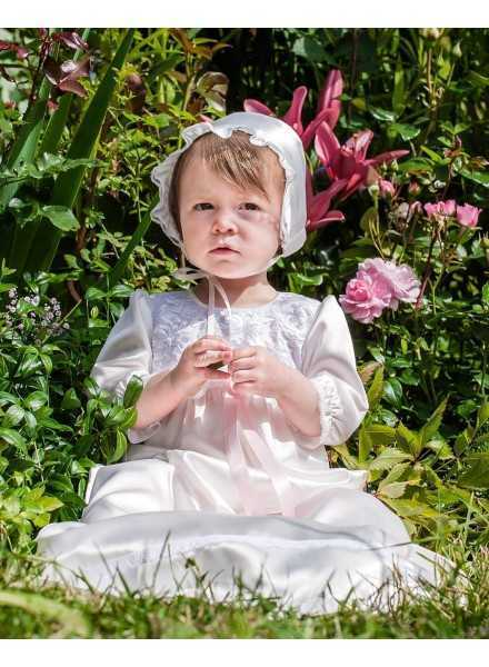 Grace-Vickan beautiful white lace baptism gown
