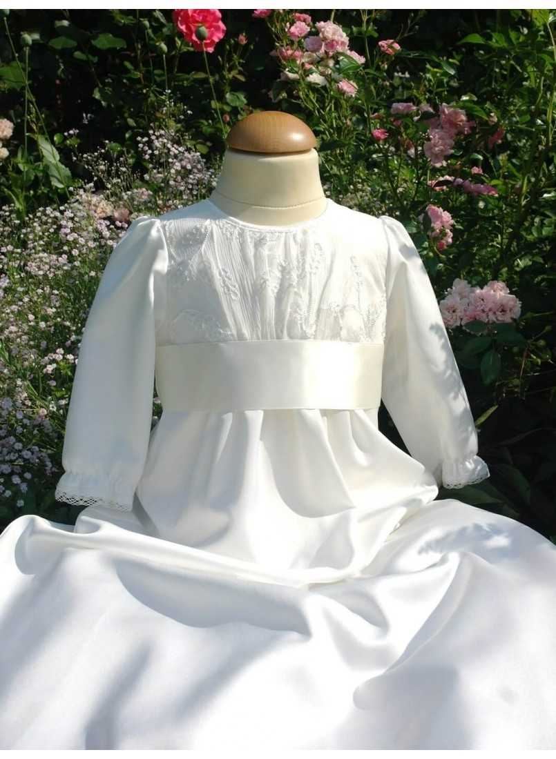 christening gown Grace-Alicia Unisex with silk chiffon