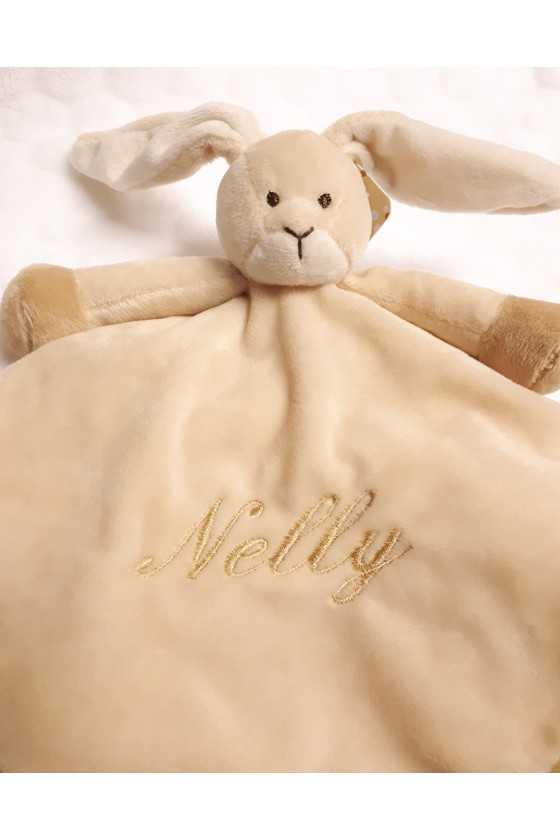 Blanket with rabbit and...