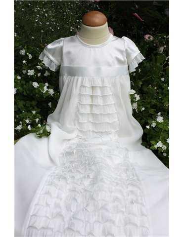 Matroshatt till Sjömansklänning i vit bomull