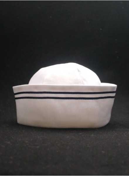 Dophätta Grace Sailor Hat Sailor to dress in white cotton modern baptismal clothing