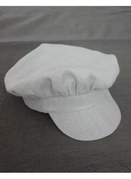 cute cap for the baptism in linen