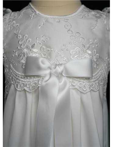 Christening gown Grace-Princess satin fabric