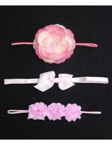Rosa rosdiadem med rosetter
