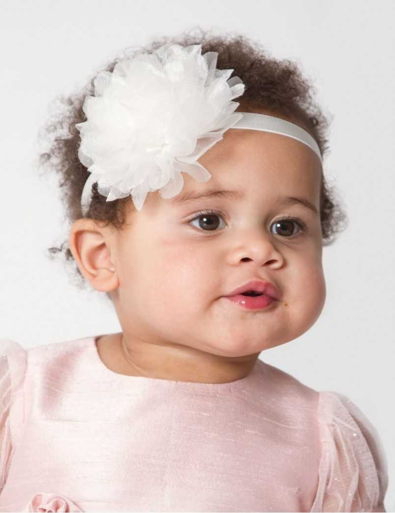 Handgjord organza diadem  för babyn