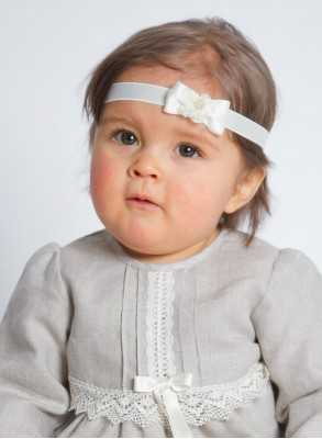 Headband with Rosette for girls baptism day