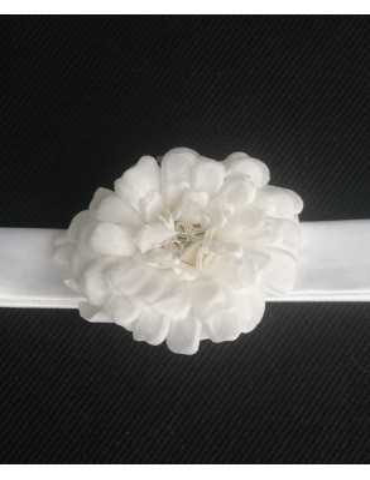 Diadem handgjord med vacker  lyster för dop