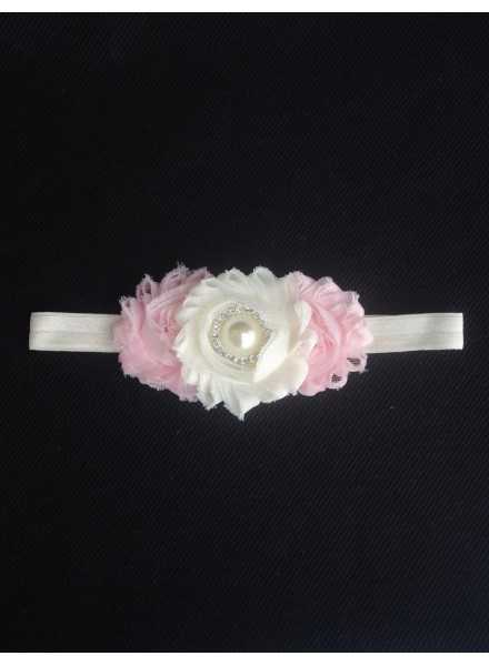 Diadem Grace Luxury Rose tiara with pink details for baptism and part