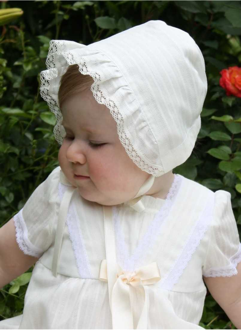 Christening bonnet from Grace of Sweden in cotton