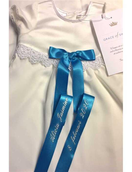 Sjömansklänning off white för dop