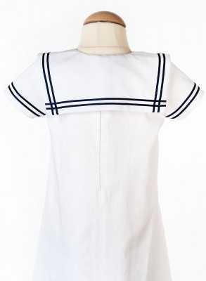 Sailor christening gown with handsome collar