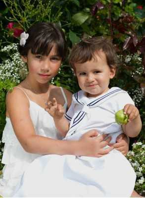 modern white Christening Gowns Cotton Sailor Dress with style for boys and girls