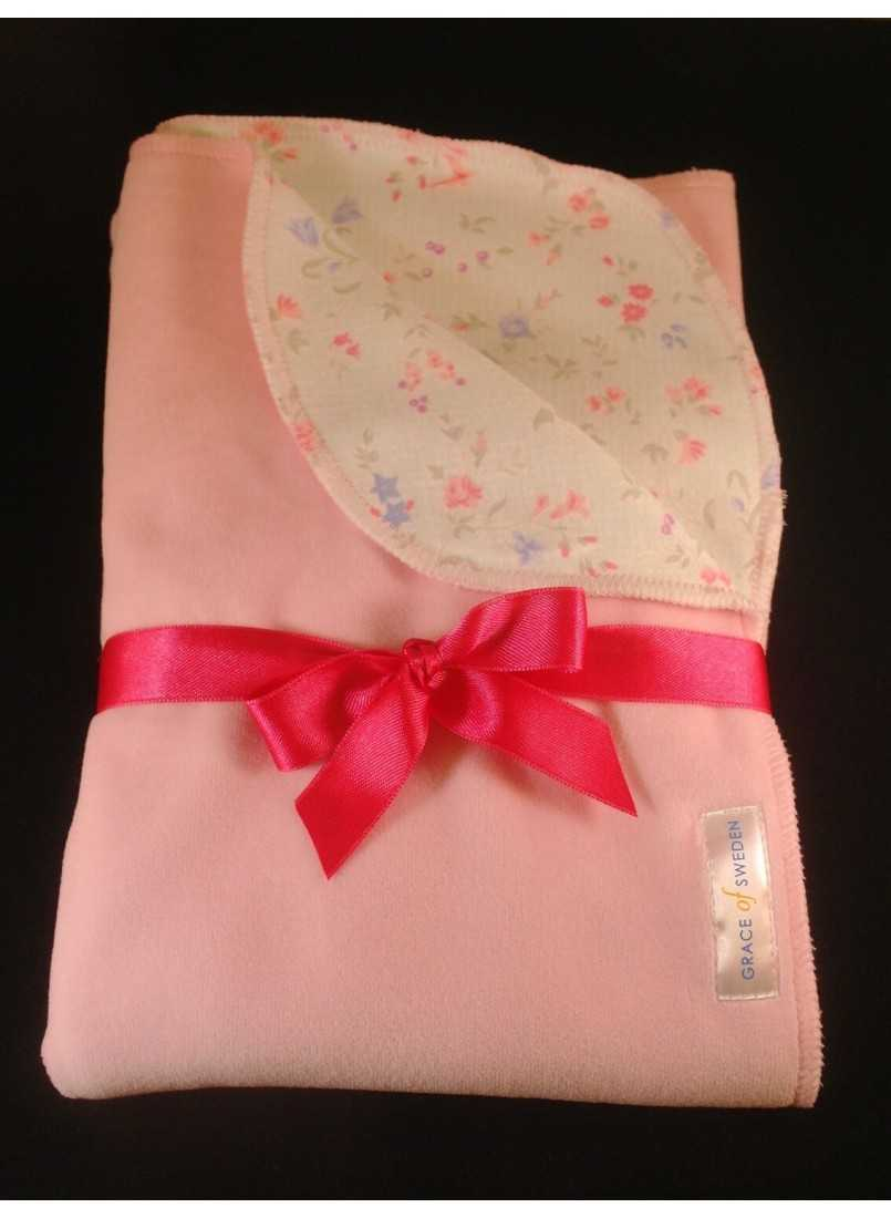 Pink baby velvet with sweet flowers