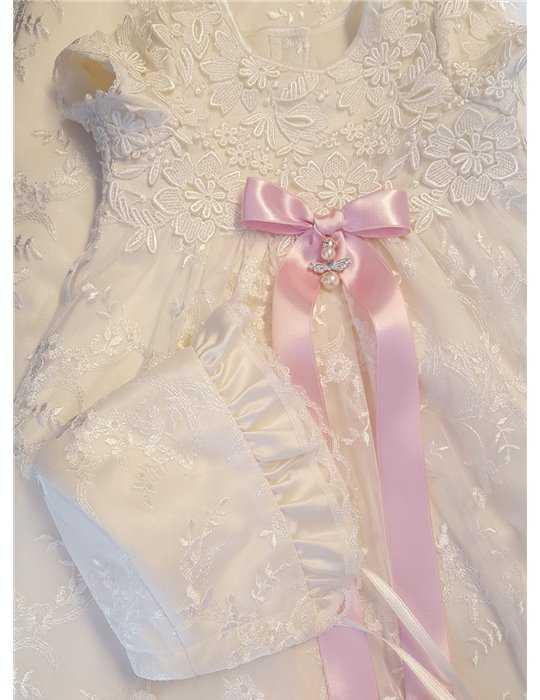Baptism booties in Silk