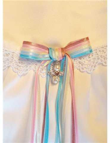 Dopklänning Grace-Rose lång kjol med brodyr