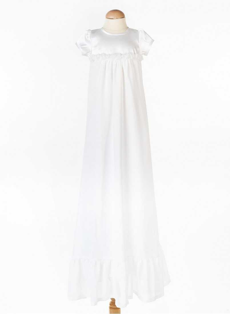 Baptism gown with short sleeve