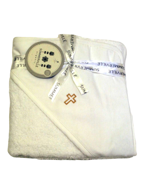 Bath cape with cross for...