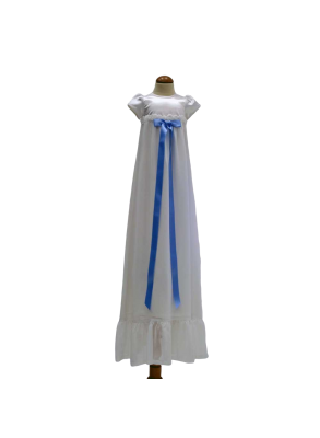 christening gown in chiffon for boy