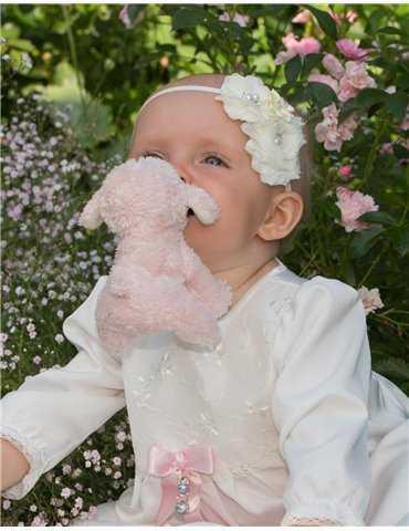 Dopklänning med vinrött dopbroderi