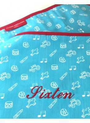 Turquoise baby blanket with...
