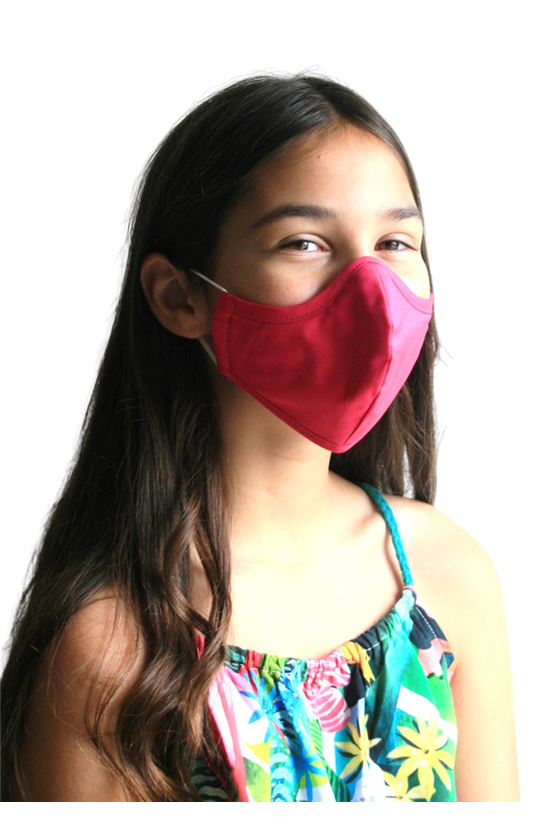 Mask for children and adults - Ceris pink - Washable at 70 degrees